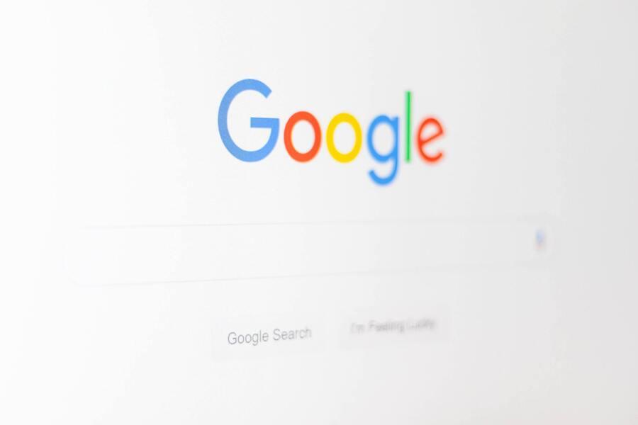 Screen showing google