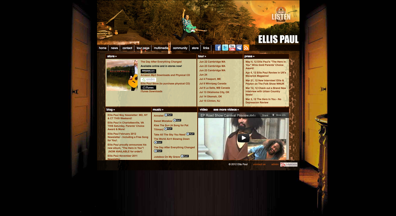 EllisPaul.com - redesigned
