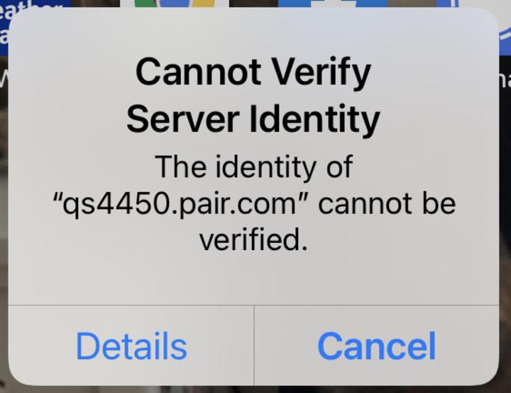 Cannot Verify