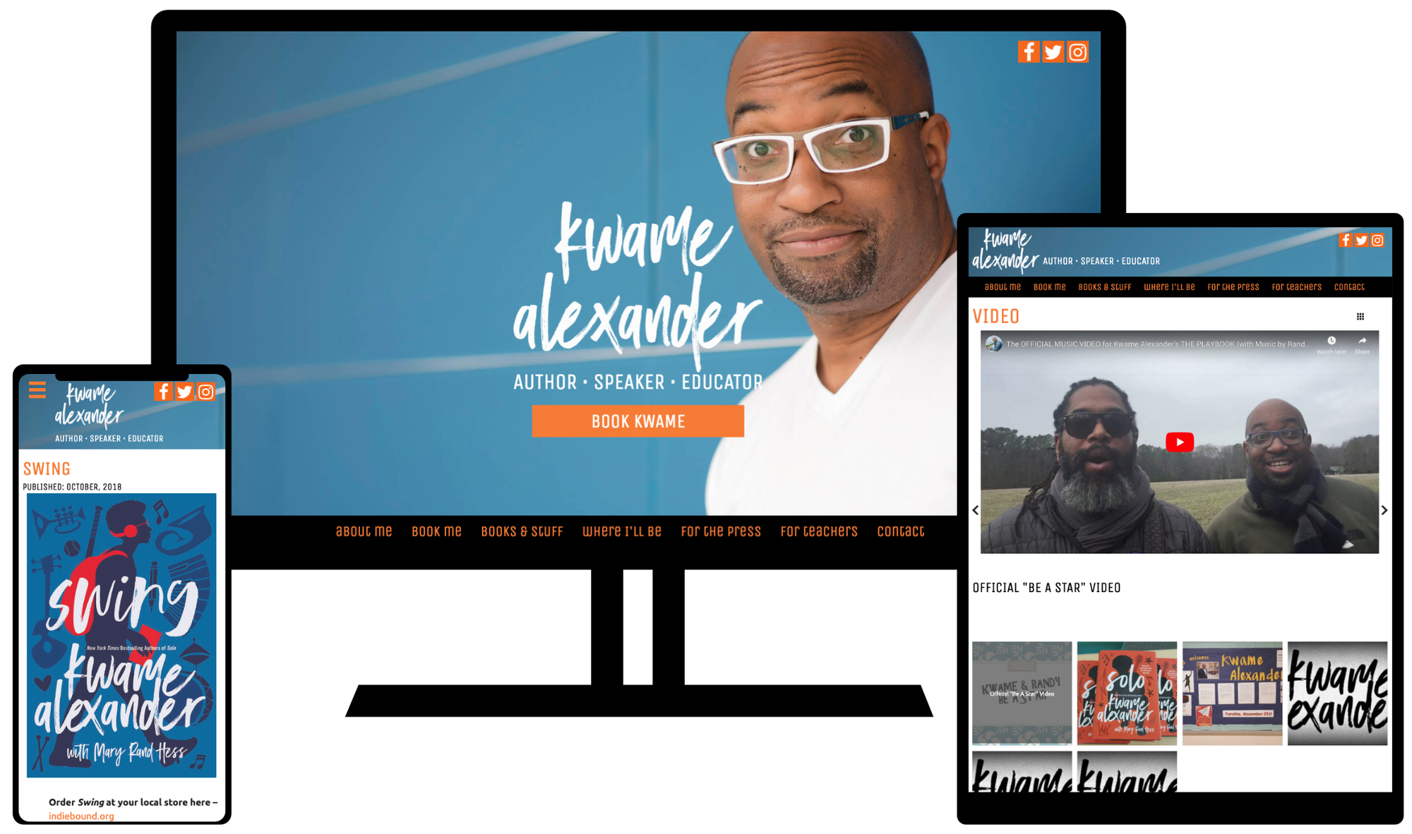 Website Design for Author Kwame Alexander